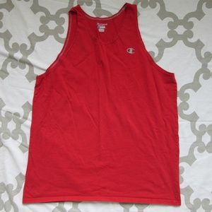 Champion Embroidered Red Tank Top Size L